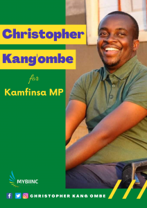 Elections Poster for Christopher Kang'ombe